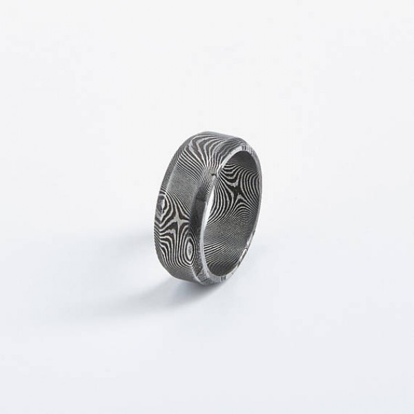 Beveled Edge Unisex Ring