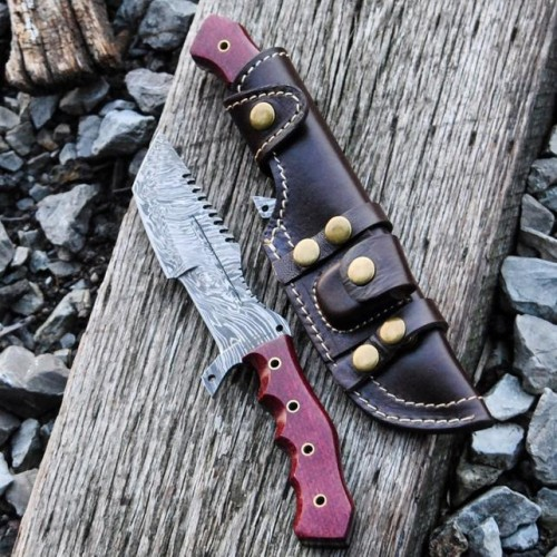 Damascus Tanto Tracker (G10 Red)