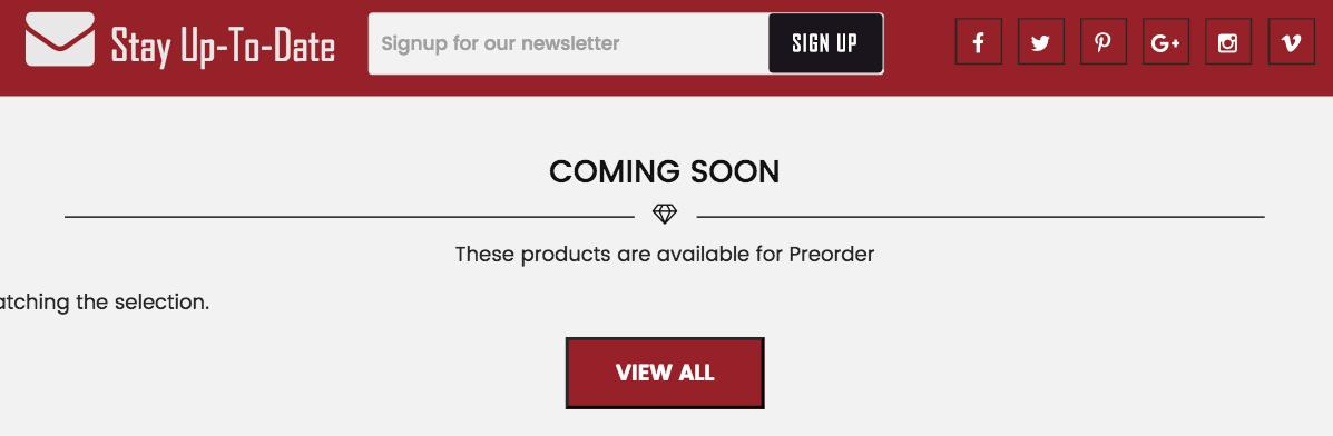 Preorder Products on BucknBear.com